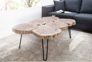 Franco - Table basse design industriel 115 cm