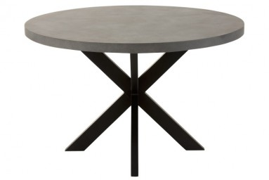 Table ronde design coloris gris