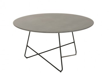 Table basse ronde design coloris gris