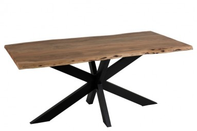 Table à manger 180cm en bois coloris naturel