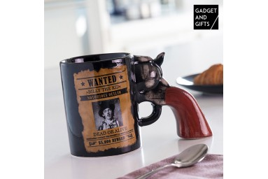 Tasse Révolver Wanted Gadget and Gifts-Nevaconfort